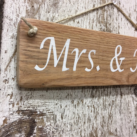 wedding decor lesbian wedding gift idea anniversary sign mrs & mrs