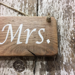 mrs and mrs sign lesbian wedding rustic decor and gift ideas
