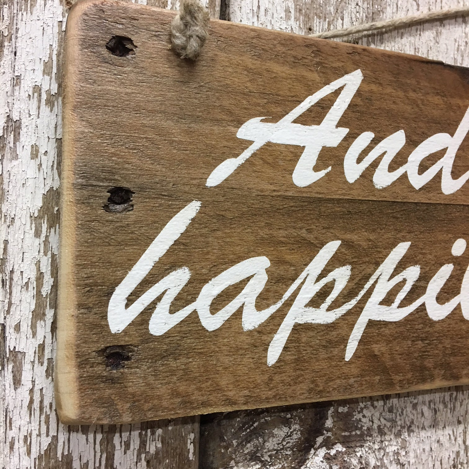 happily ever after sign for weddings hand painted wooden signs