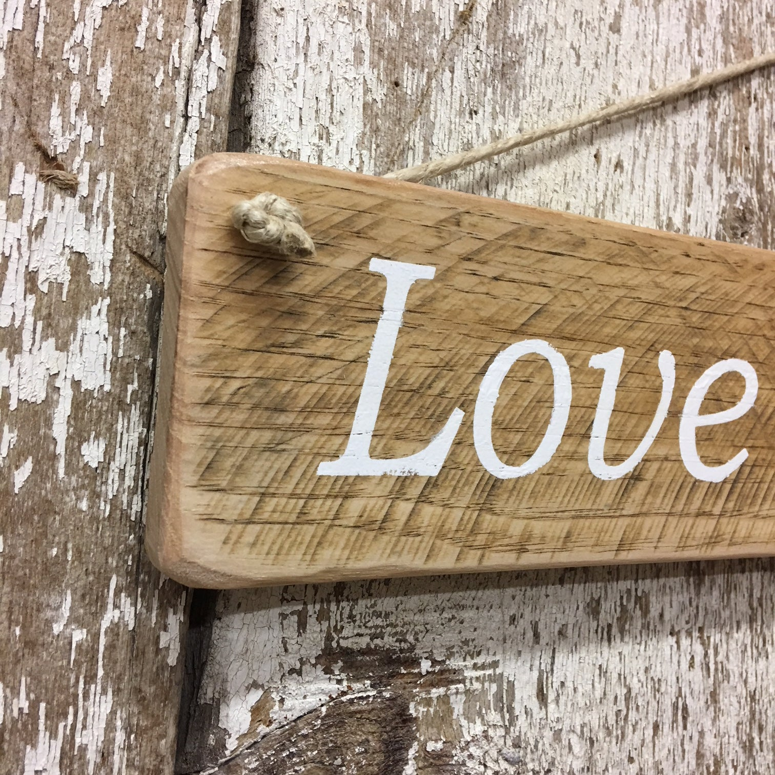 Love Shack Reclaimed Wood Sign