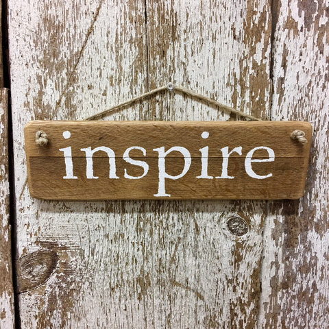 Inspire Reclaimed Wood Sign