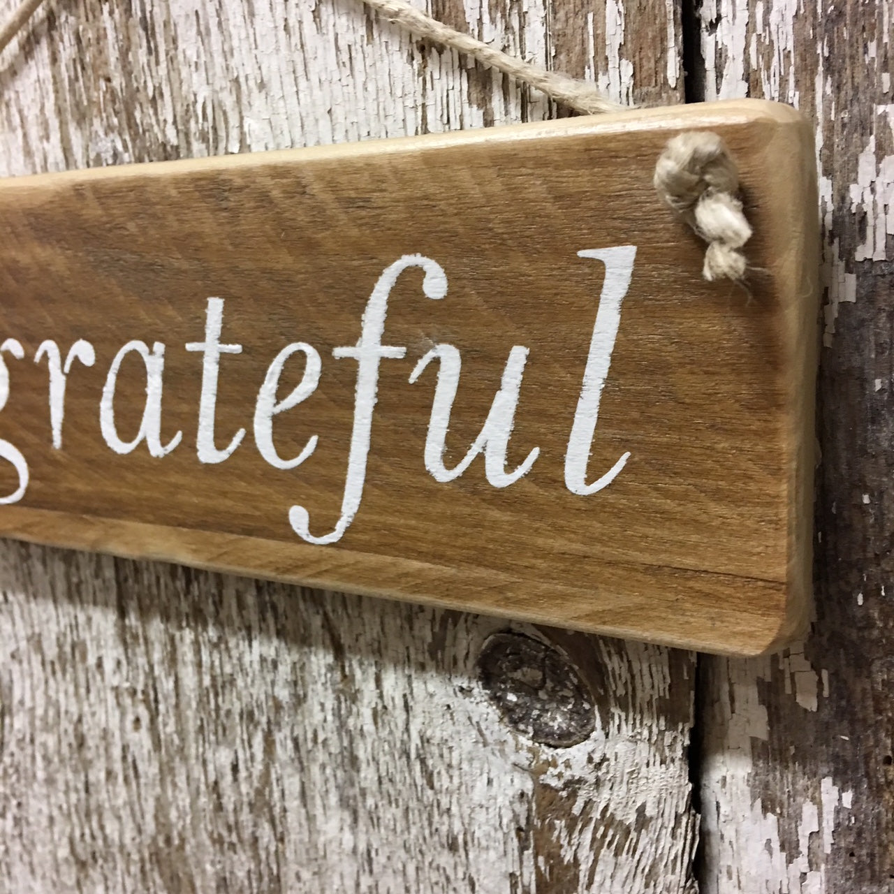 Be Grateful Reclaimed Wood Sign