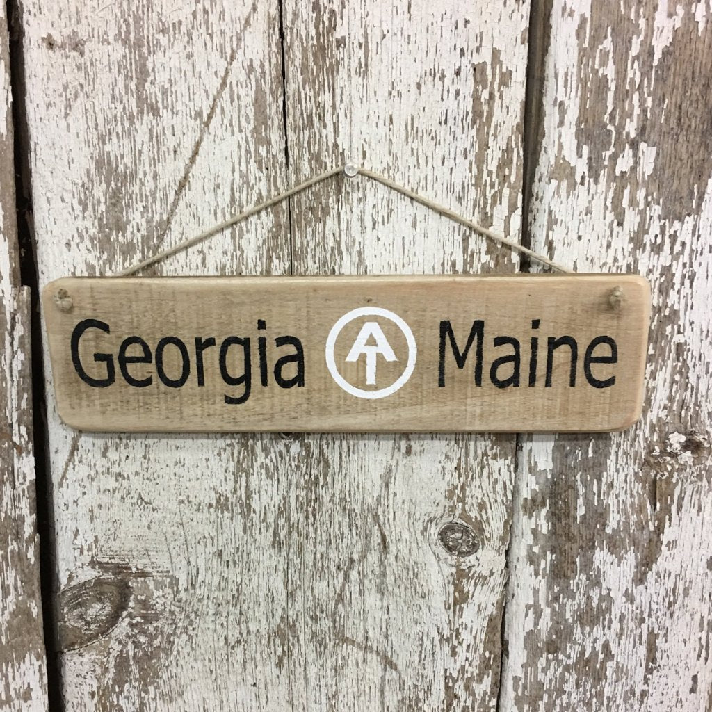 appalachian trail sign thru hiker sign AT trail sign reclaimed wood