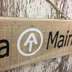 AT wooden sign Georgia to Maine from reclaimed wood