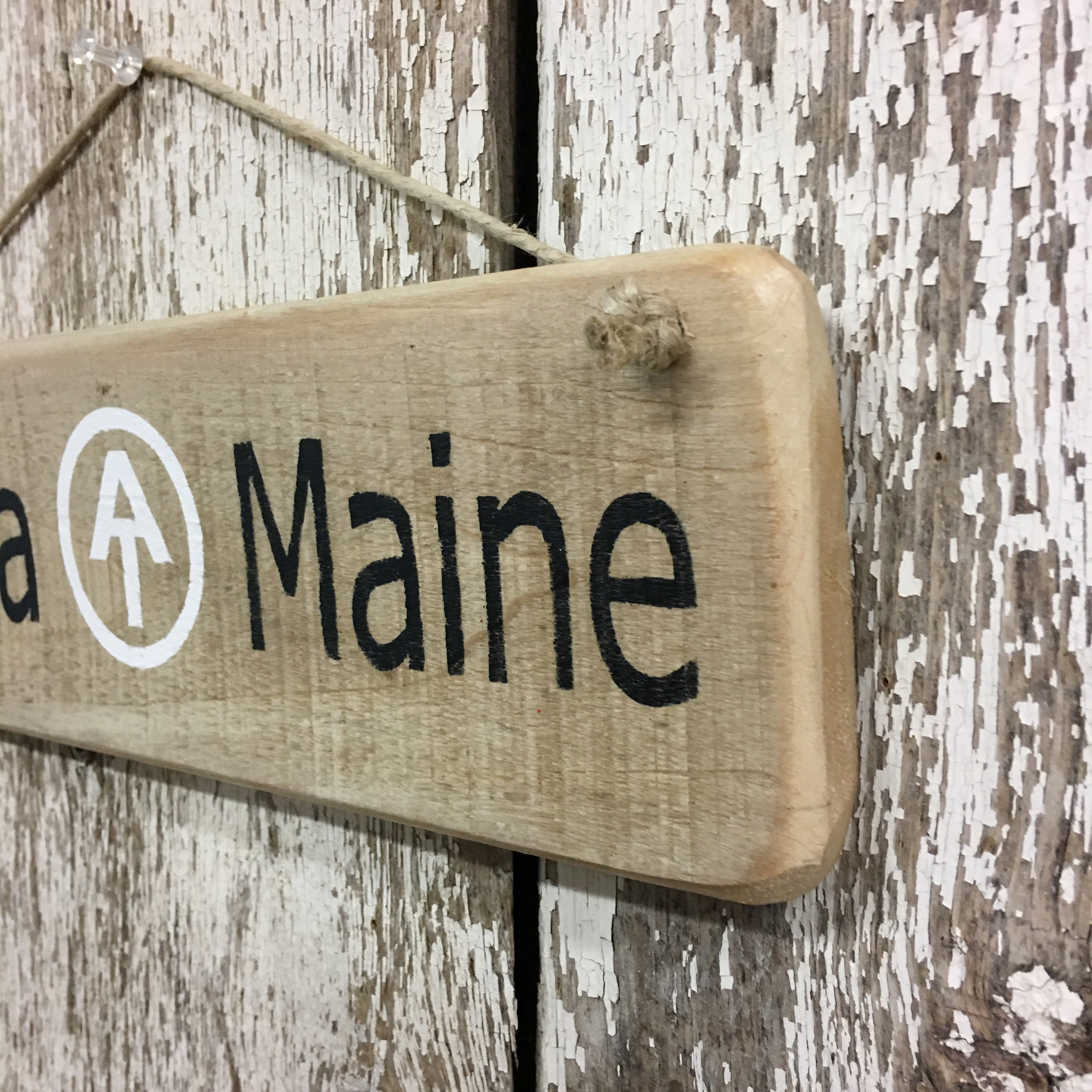 Appalachian trail gift Georgia to Maine wooden sign hand painted