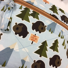 Dont Feed the Bears Crossbody Handbag with Adjustable Strap