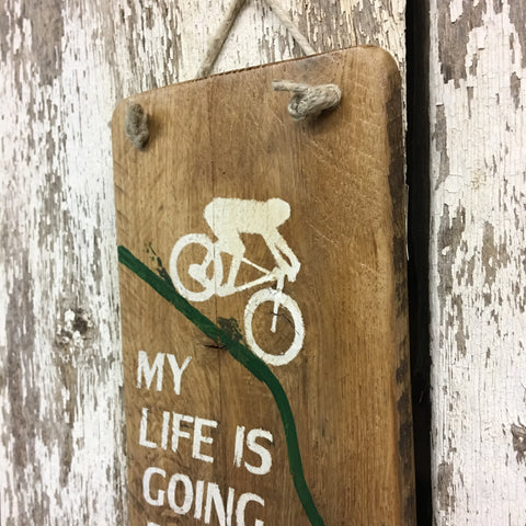 gift ideas for mountain bikers funny mountain biking wood sign