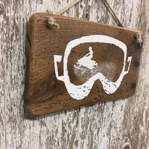 snowmobiling gift ideas and decor wooden snowmobile sign