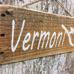 vermont ski sign reclaimed wood vermont rustic house decor