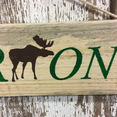 VERMONT Moose Reclaimed Wood Sign