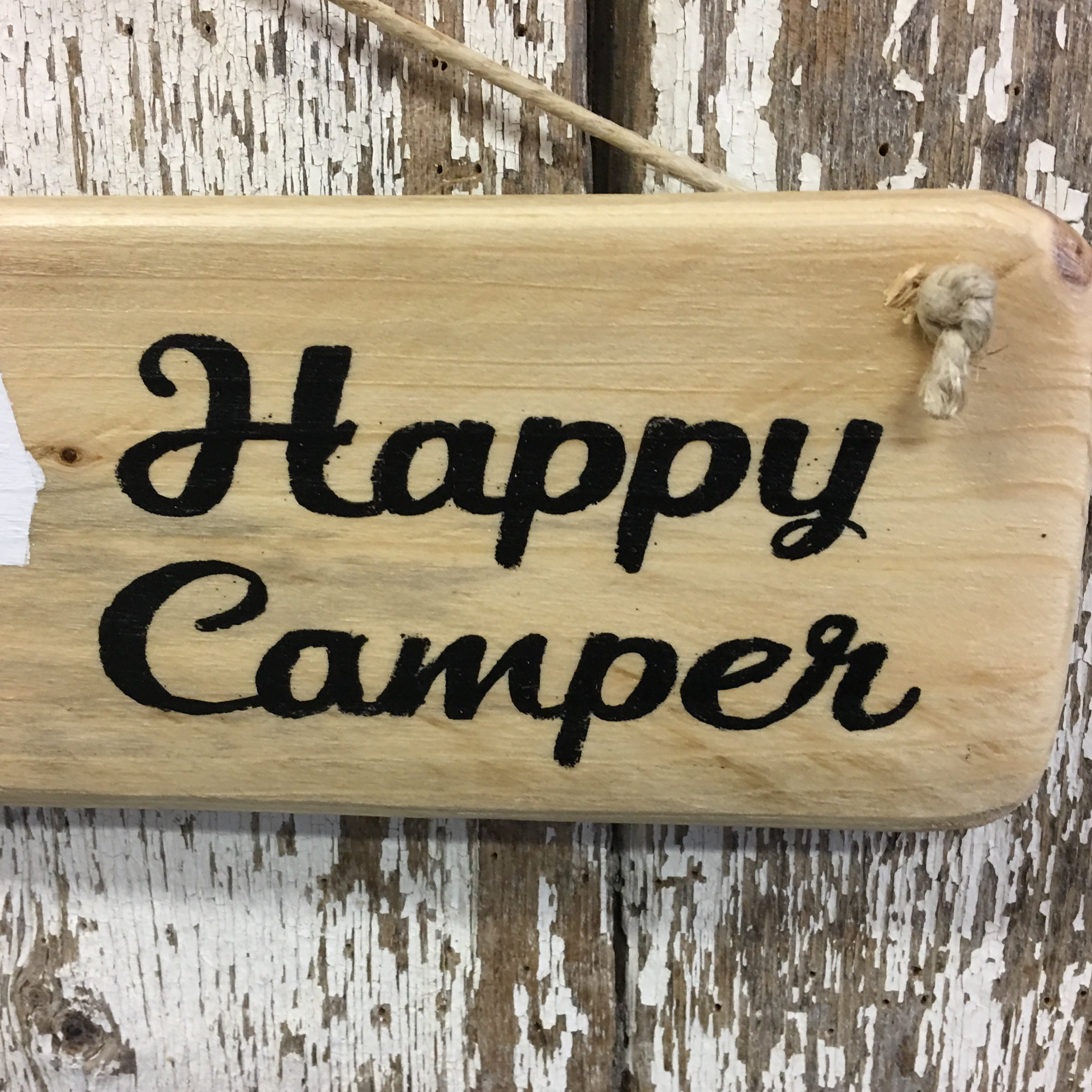 Happy Camper 5th Wheel Camper Reclaimed Wood Sign