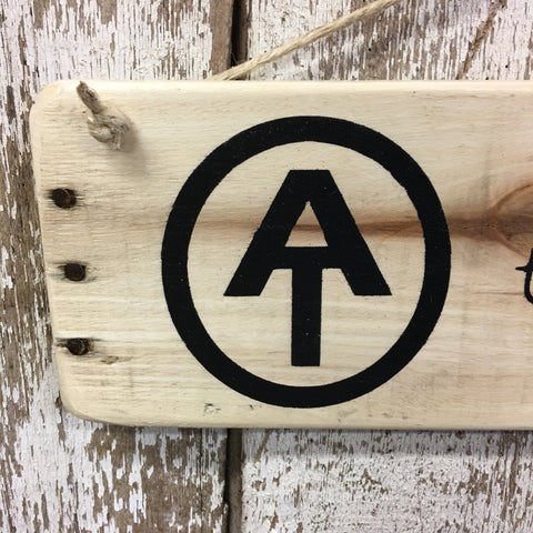 Appalachian Trail Journey Reclaimed Wood Sign