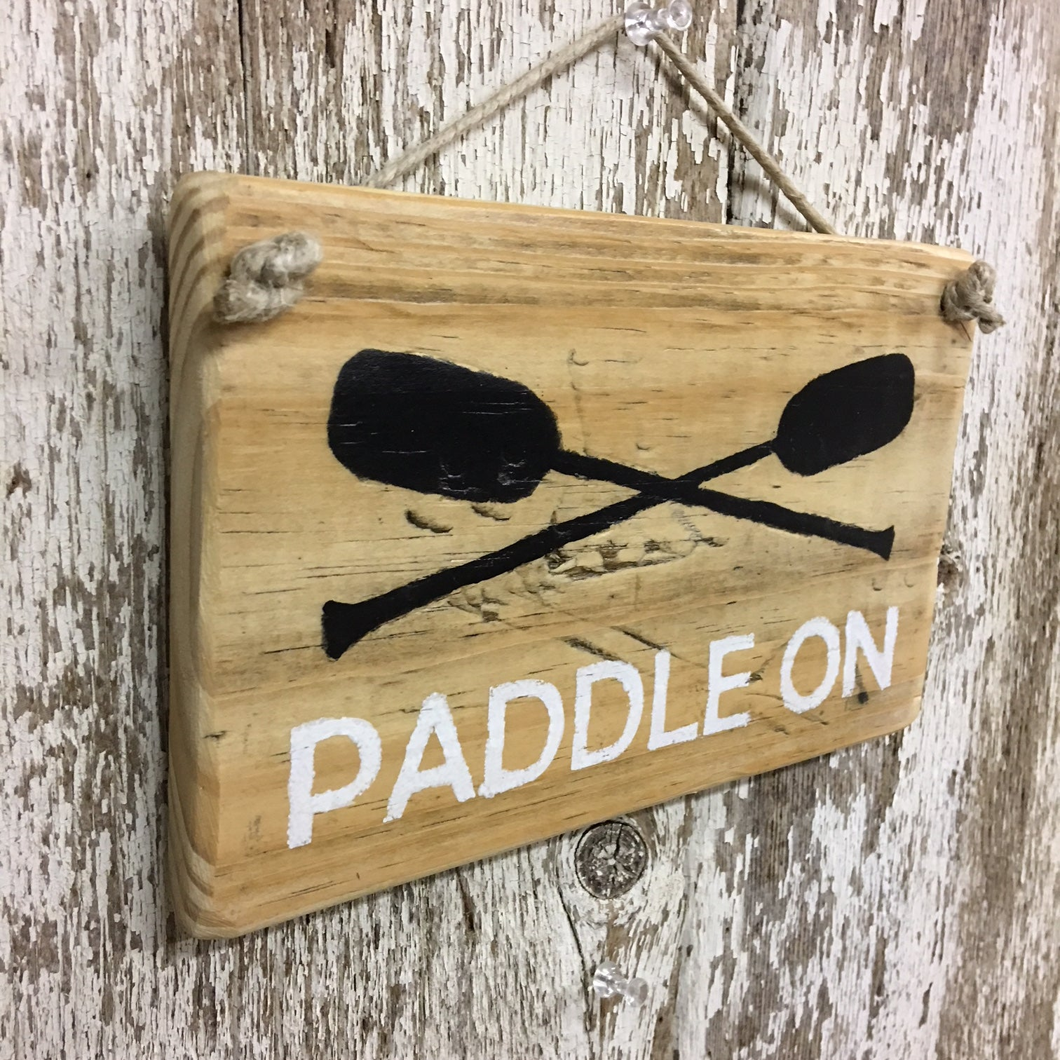 boating sign paddle on reclaimed wooden sign boat sign row