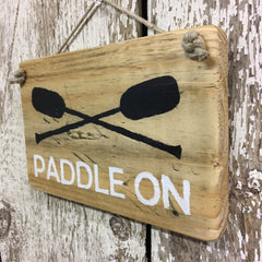 row boat paddle sign paddle on boating sign hand painted wood