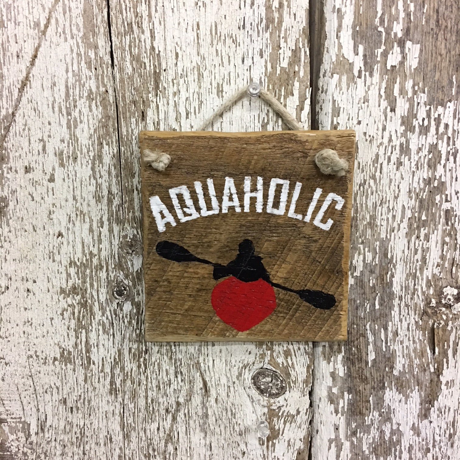 wood kayak sign paddle decor kayaking gifts novelty gifts