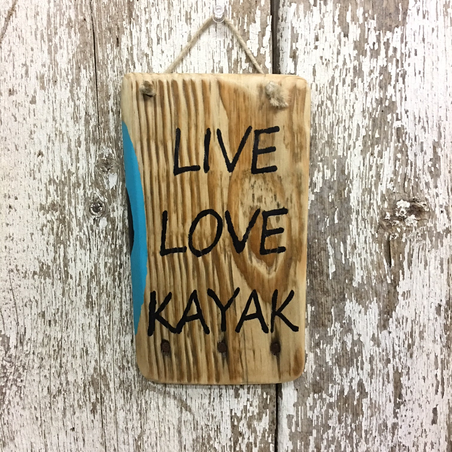 kayaking gifts live love kayak reclaimed wooden sign gift idea