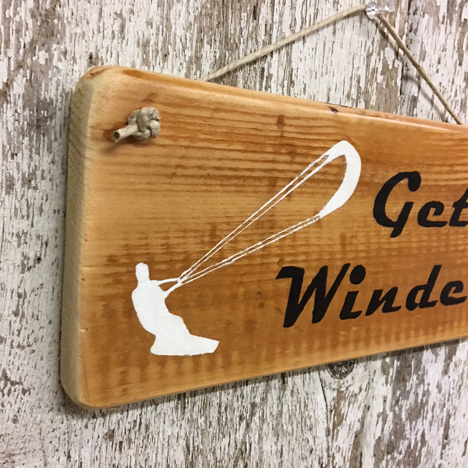 wakeboard gift and decor ideas get winded sign on reclaimed wood