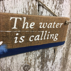 water ski wall decor water skiing gift idea the water is calling