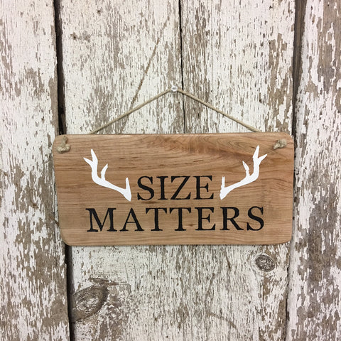 size matter deer decor rustic hunting sign for cabin lodge home