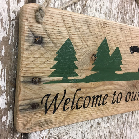 welcome signs for cabin decor entrance sign cabin themed decor
