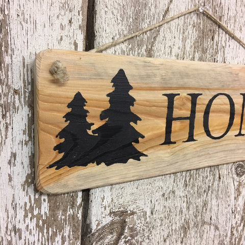 rustic decor ideas house gifts reclaimed wood sign with home in black