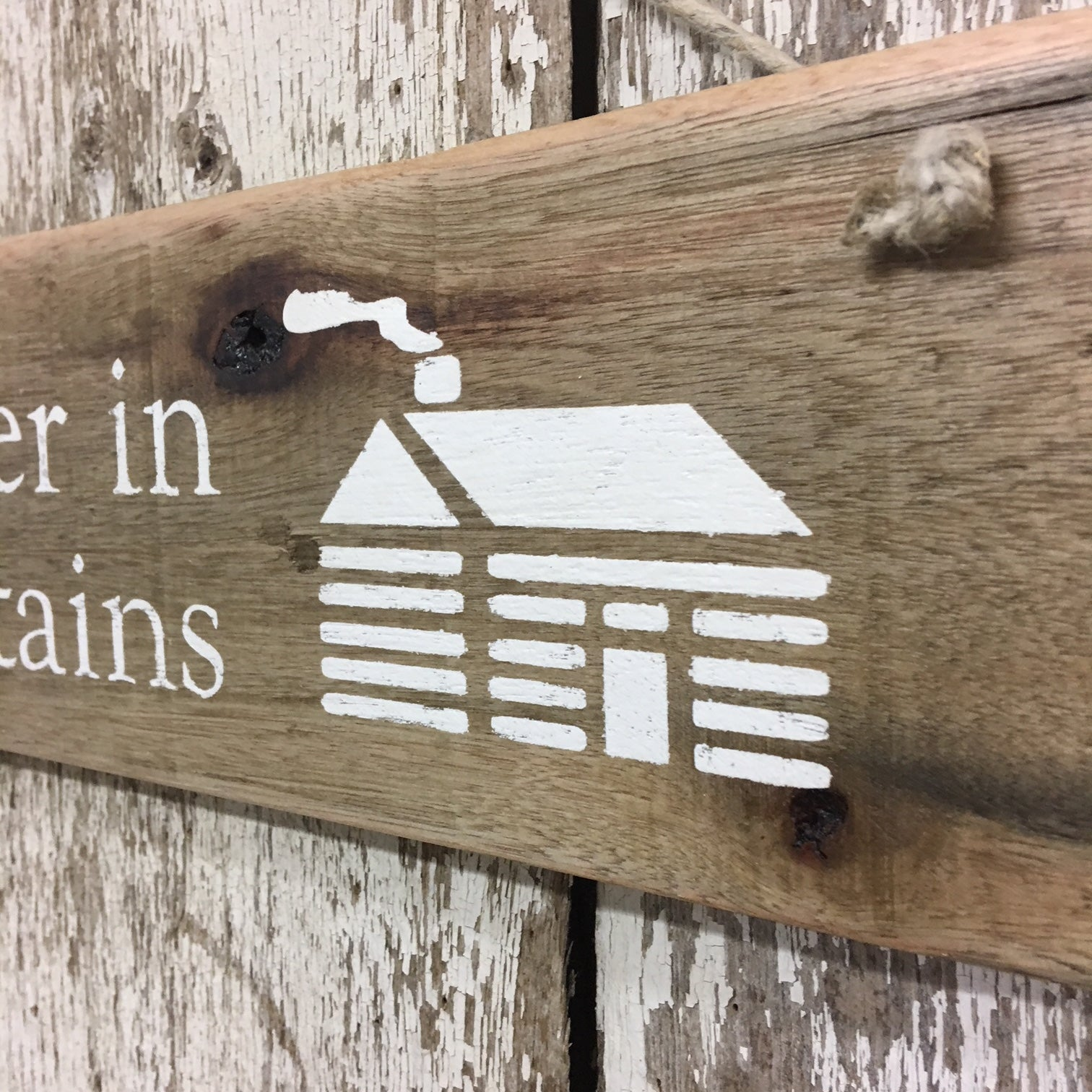 mountain cabin signs life is better in the mountains home house sign