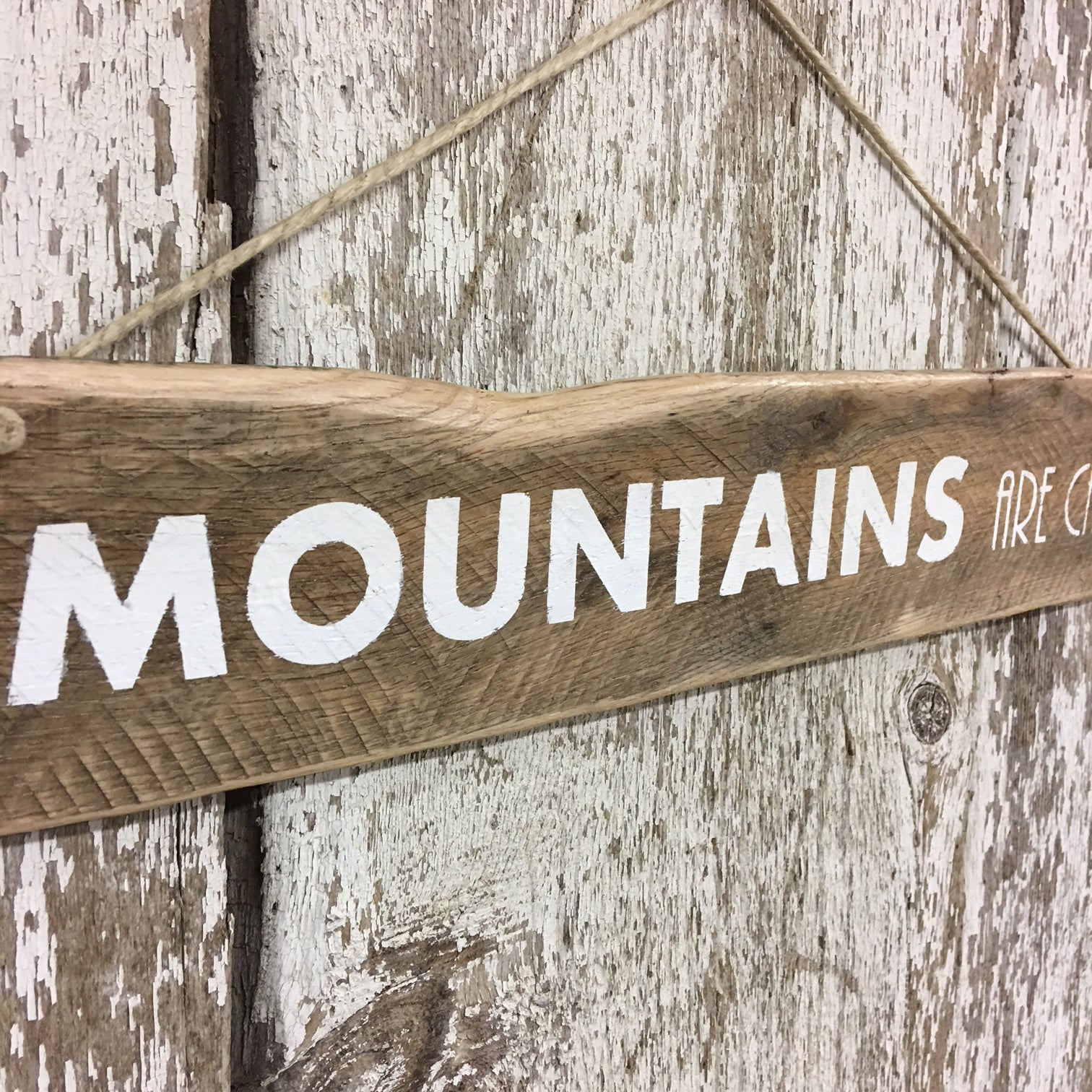 mountain cabin signs the mountains are calling wooden sign