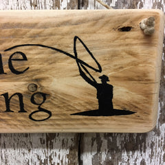 fishing decor fly fishing gifts for fly fisherman gone fishing sign