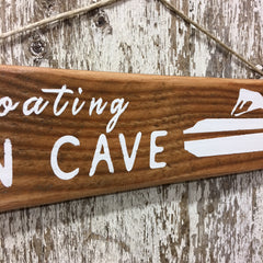 gift for boat lovers floating man cave sign lake boat sign for him