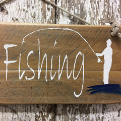 fishing wood sign gift for fisherman gift for dad