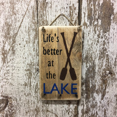 wooden lake signs lake cabin decor life is better at the lake sign