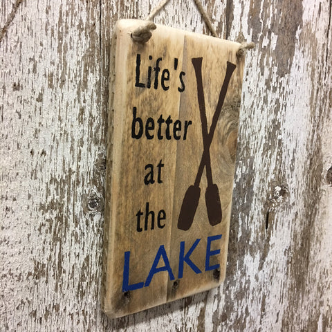lake life gifts and decor lifes better at the lake wood sign
