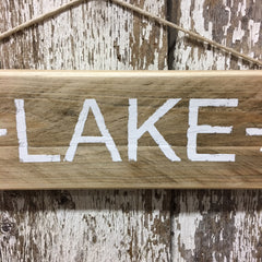 lake decor lake sign lake house gifts lake arrow sign in white