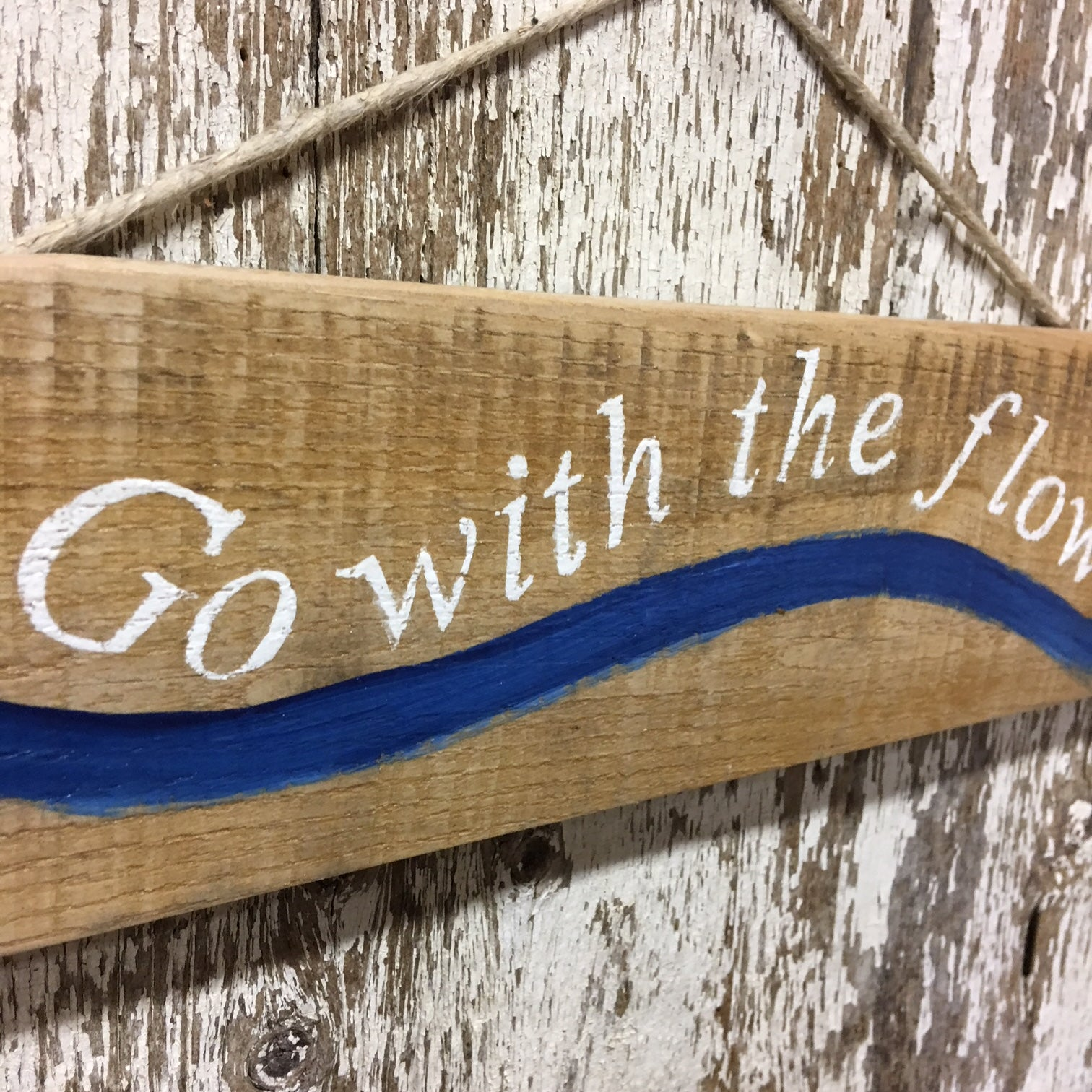 go with the flow water sign for kayaking, paddling, whitewater lovers
