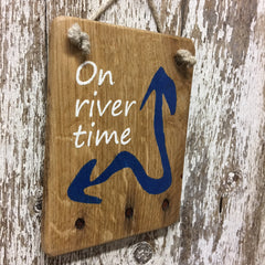 river life gift ideas and decor on river time sign wooden signs