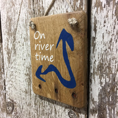 river house decor and river life gift ideas on river time wood sign