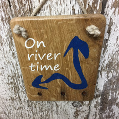 wooden river signs on river time wood sign gift ideas for river house