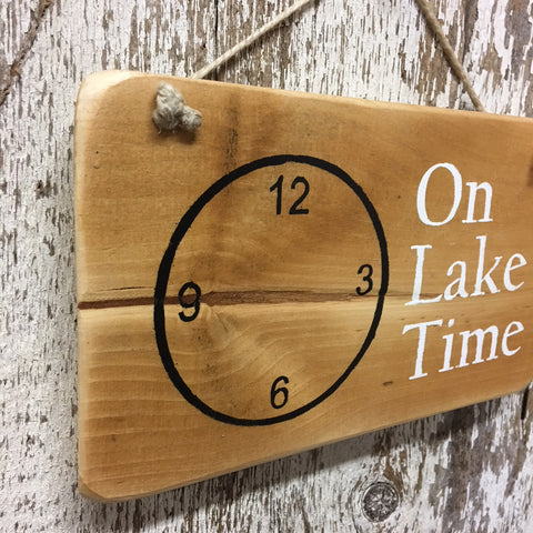 lake life gifts and decor on lake time wood sign lake living