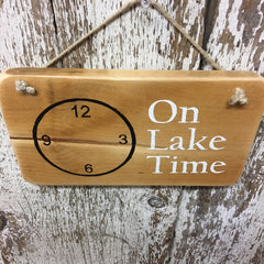 life at the lake on lake time wooden signs lake living decor