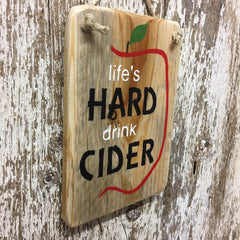 hard cider sign apple cider for home farm orchard on wood