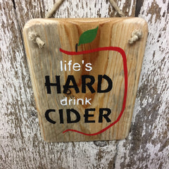 hard cider decor apple cider sign drink cider wooden sign rustic