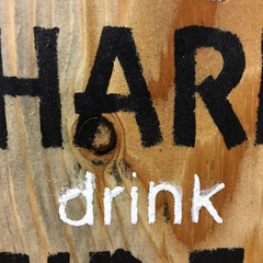 life's hard drink cider apple orchard sign on reclaimed wood