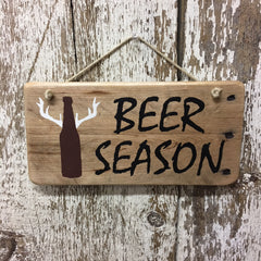 beer gifts for the outdoorsy craft beer lover beer season wood sign