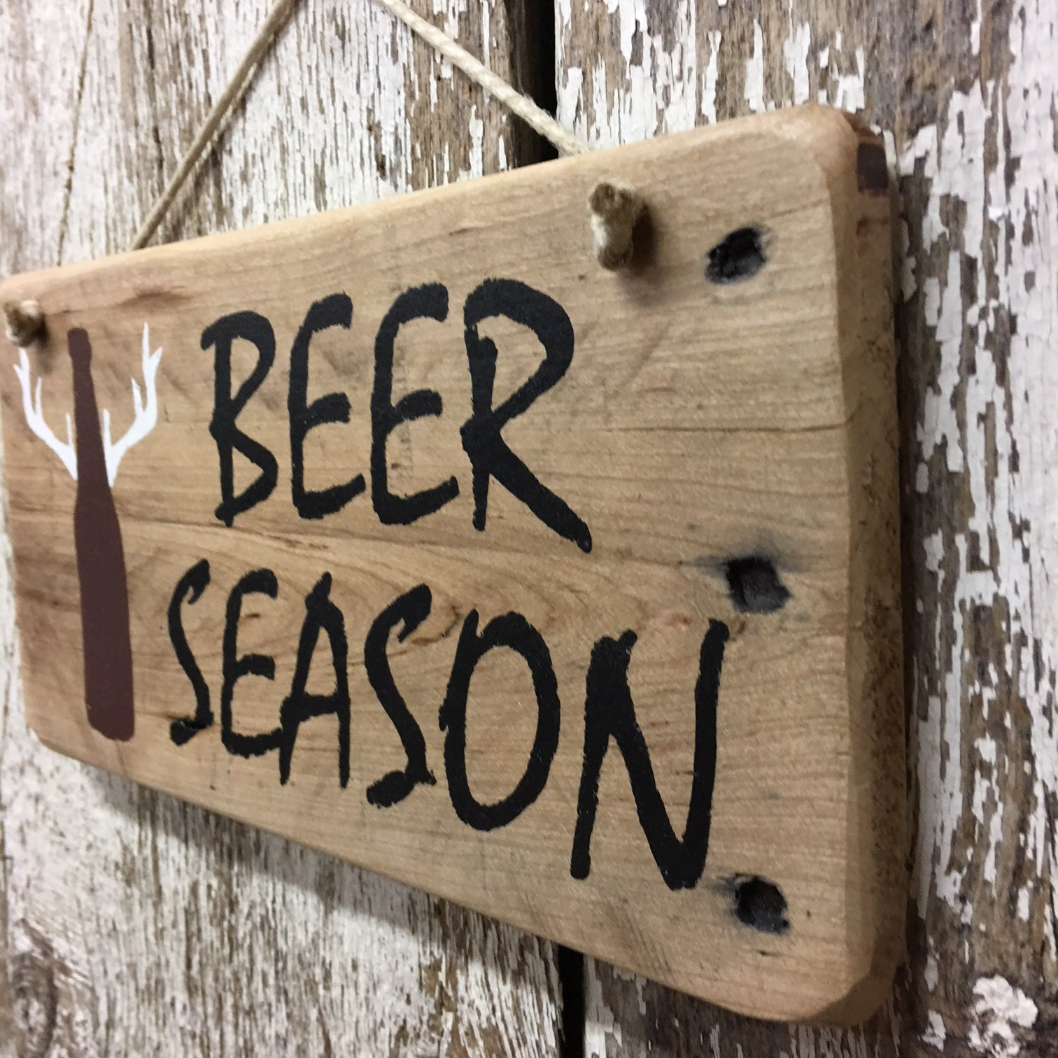 gift ideas for hunters beer lovers beer season hand painted sign