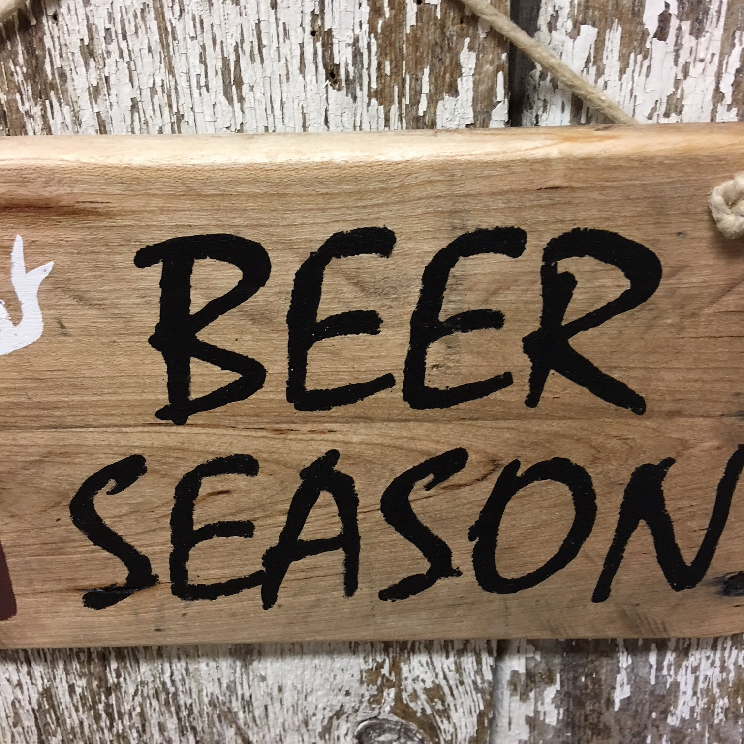 signs for beer enthusiasts and hunters beer season wood sign