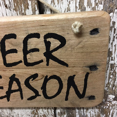 beer gift ideas hunter gifts beer season wooden sign with antlers
