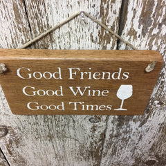 unique wine sign wine gift ideas good friends wine times wood sign
