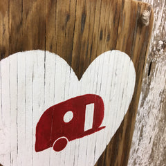 cool camping gifts camper love with heart and camper inside wood