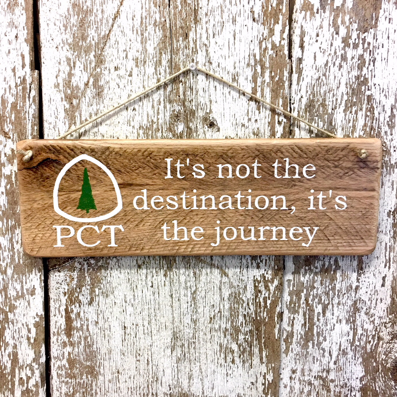 Pacific Crest Trail Reclaimed Wood Sign