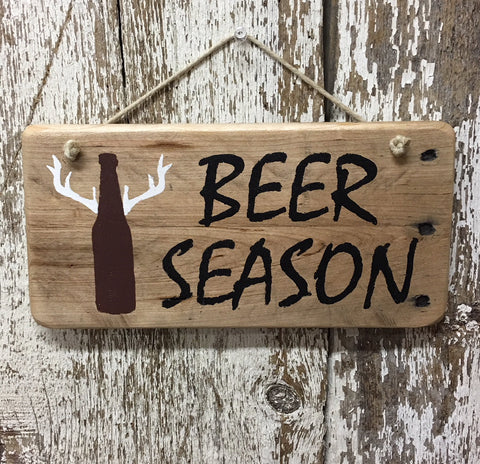 beer sign for beer lover hunter beer season wood sign with deer
